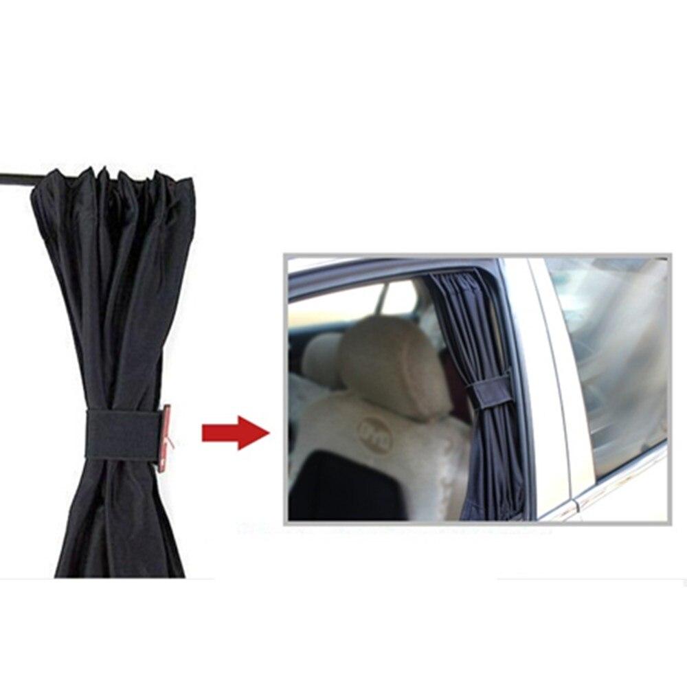 Vip Car Curtains - 2 pcs of car curtains general purpose vehicle shade curtain aluminum alloy rail 50