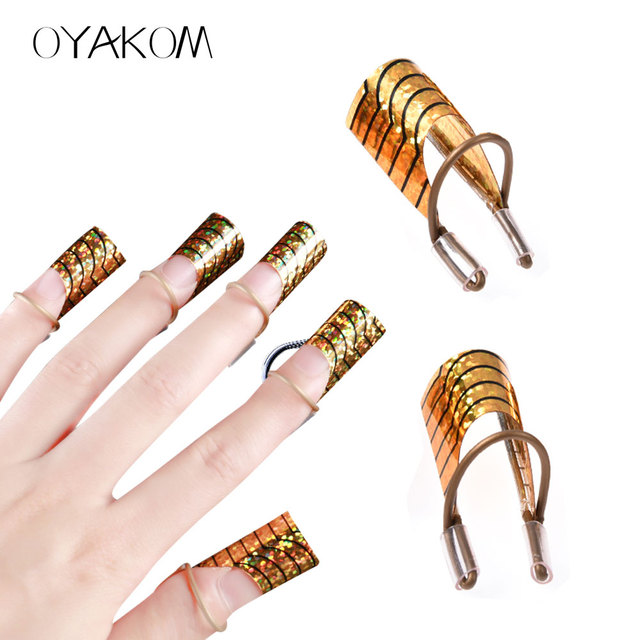 Oyakom 5pcs Set Reusable Nail Forms Gel Uv Design Extension Guide Tips Acrylic French