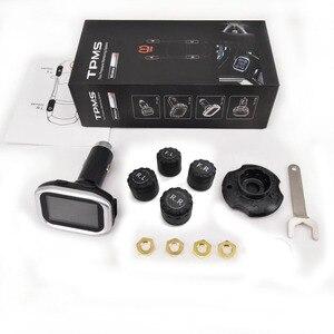 Image 5 - W oponach TPMS samochodu system monitorowania ciśnienia w oponach zapalniczki cyfrowy wyświetlacz LCD automatyczne systemy alarmowe bezpieczeństwa ciśnienia w oponach TP720