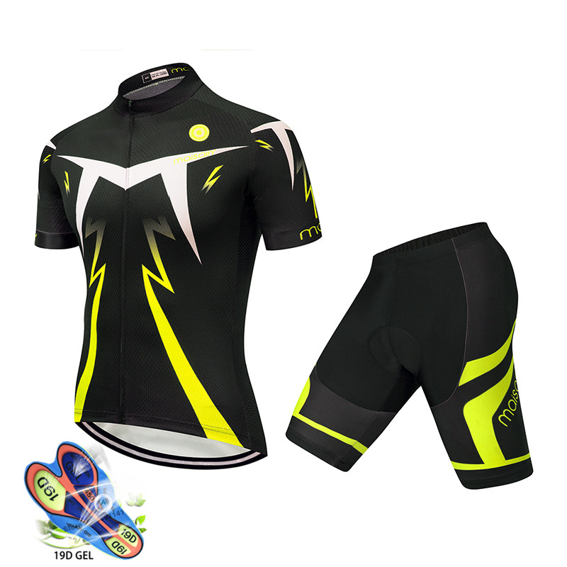 2019 Summer Cycling Clothing Ropa Ciclismo Hombre Bike Clothing Breathable Anti-UV Bicycle Wear/Short Sleeve Cycling Jersey Sets