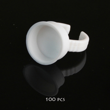 100pcs No Separator Permanent Makeup Easy Ring Ink Container Cup For INK Supply RING Cups For Tattoo
