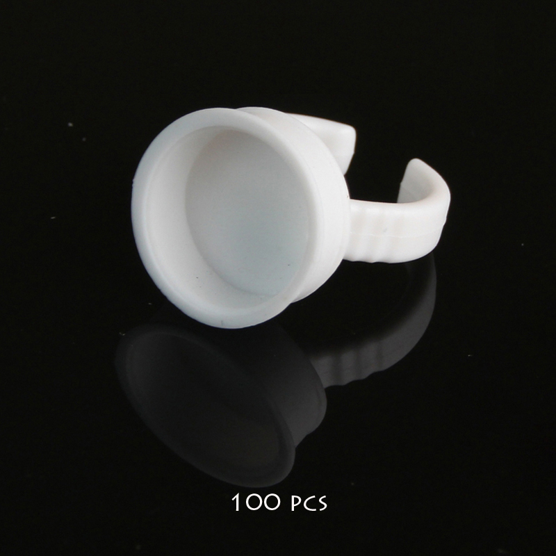 2018 Tebori Microblading Accesories 100pcs No Separator Permanent Makeup Easy Ring Ink Container Cup For Supply Cups For Tattoo