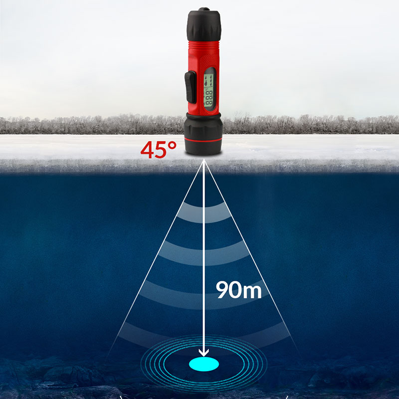 Erchang F12 Portable Sonar Fish Finder Digital Handle Echo Sounder Waterproof Sonar Sensor 0.8-90m Depth Ice Fishing Fishfinder portable fish finder bluetooth wireless echo sounder underwater bluetooth sea lake smart hd sonar sensor depth