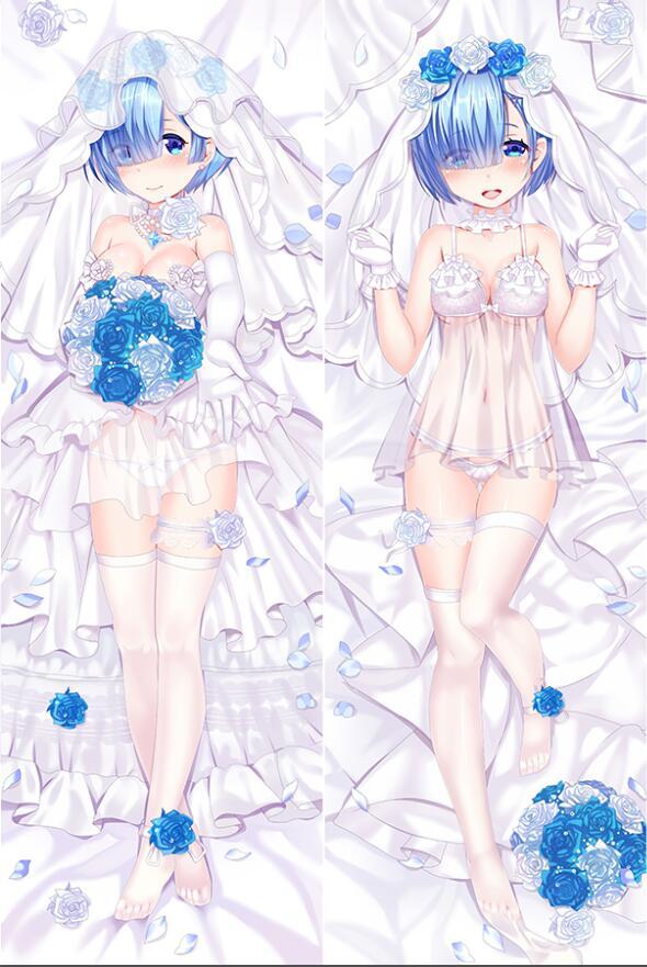 Купить с кэшбэком cirno's Store re zero kara hajimeru isekai seikatsu anime Characters emilia & rem pillow cover body Pillowcase Dakimakura