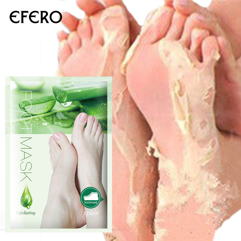 EFERO Socks For Pedicure Baby Feet Mask Exfoliating Foot Peeling Mask Cream Cracked Heel Dead Skin Remover Foot Care 7pack=14pcs bioaqua exfoliante para pies