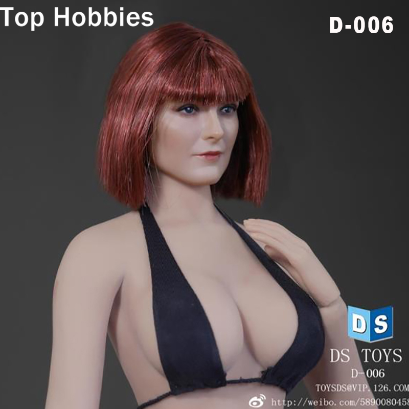 DSTOYS 1/6 Scale Female Head Sculpt Model D-006 Short Hair Female Carving for 12 Phicen Collectible Action Figure DIY Toys Doll 1 6 scale ancient figure doll gerard butler sparta 300 king leonidas 12 action figures doll collectible model plastic toys