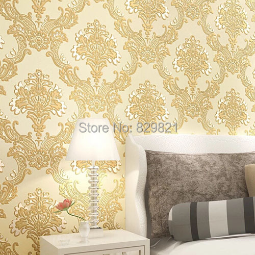 Damask Luxury Wallpaper 3D Flower Wall Paper European Vintage for ...