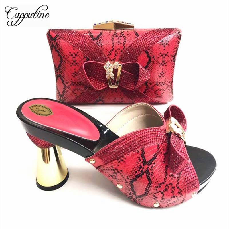 Capputine New Fashion African Shoes And Bag Set Nigerian Rhinestone Wedding Shoes And Bag Set Size 37-42 Free Shipping TX-089Capputine New Fashion African Shoes And Bag Set Nigerian Rhinestone Wedding Shoes And Bag Set Size 37-42 Free Shipping TX-089