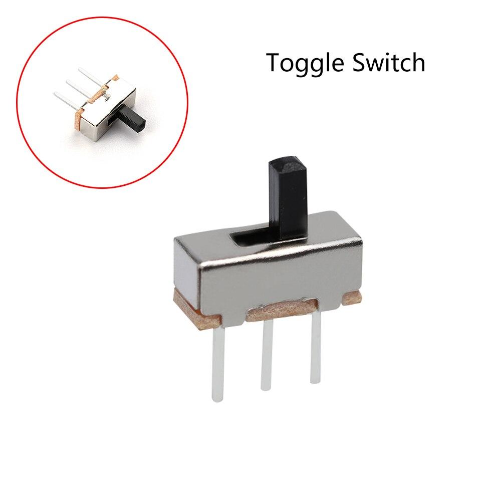 50Pcs 2 Position SPDT 1P2T 3 Pin PCB Panel Vertical Slide Switch 0.5A 50V DC