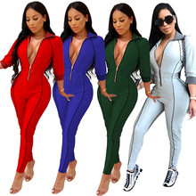 1cafa1442540 Buy womens side stripe jumpsuit and get free shipping on AliExpress.com
