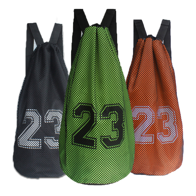 2bf059f459f Outdoor Basketball Sports Bag Large Capacity Mesh Drawstring Bag Soccer  Training Backpack Shoulder Bag Basketball Bucket