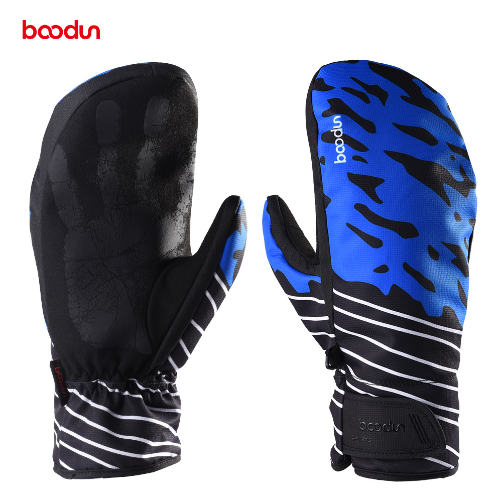 Boodun Men Women Waterproof Winter Warm Skiing Gloves Windproof Thickening Outdoor Sports Riding Motorcycle Snowboard Ski Gloves