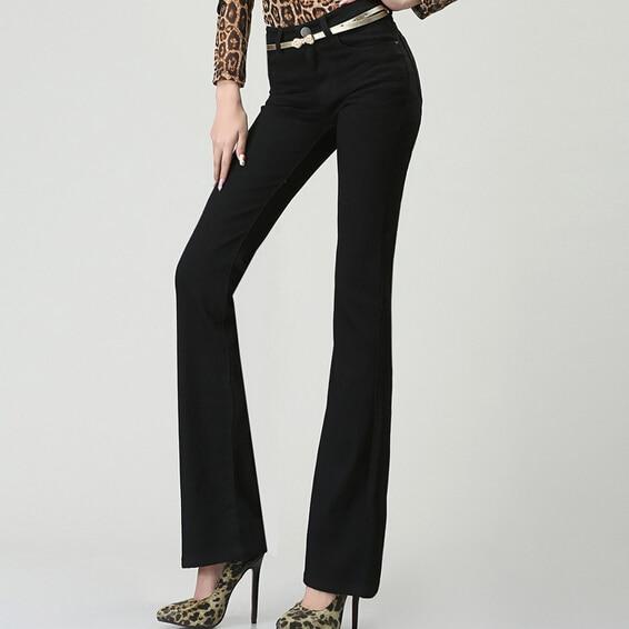 2017 primavera y otoño altavoz micro vaqueros de cintura alta Pantalones  negro Slim hip stretch Pantalones fb351a57c01