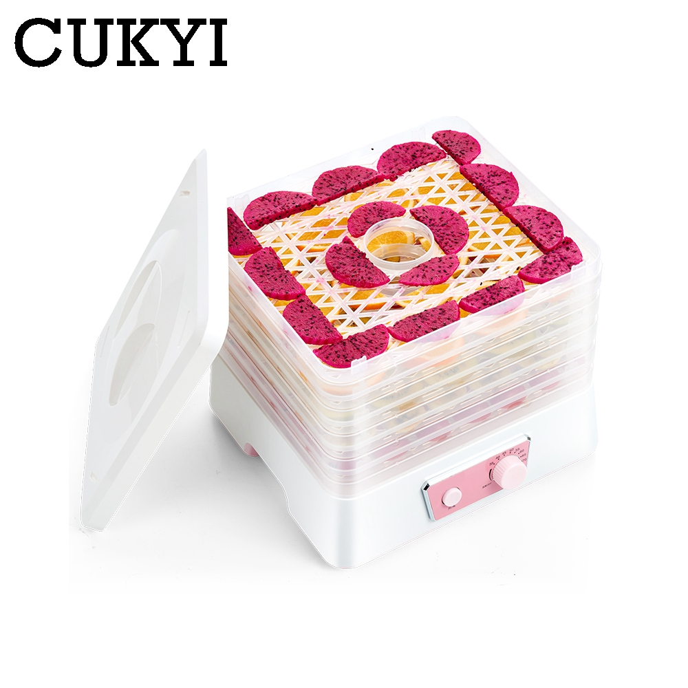 CUKYI Electric Food Dehydration Air Dryer Fruit Vegetable Dehydrator Herb Meat Fish flower 5 Layers snacks Drying Machine EU US eu us plug food dehydrator fruit vegetable herb meat drying machine snacks food dryer fruit dehydration machine 5 trays 500w