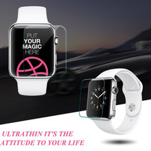 New Premium Film 0 26mm Real Tempered Glass Screen Protector for Apple Watch 42mm 38mm Smart