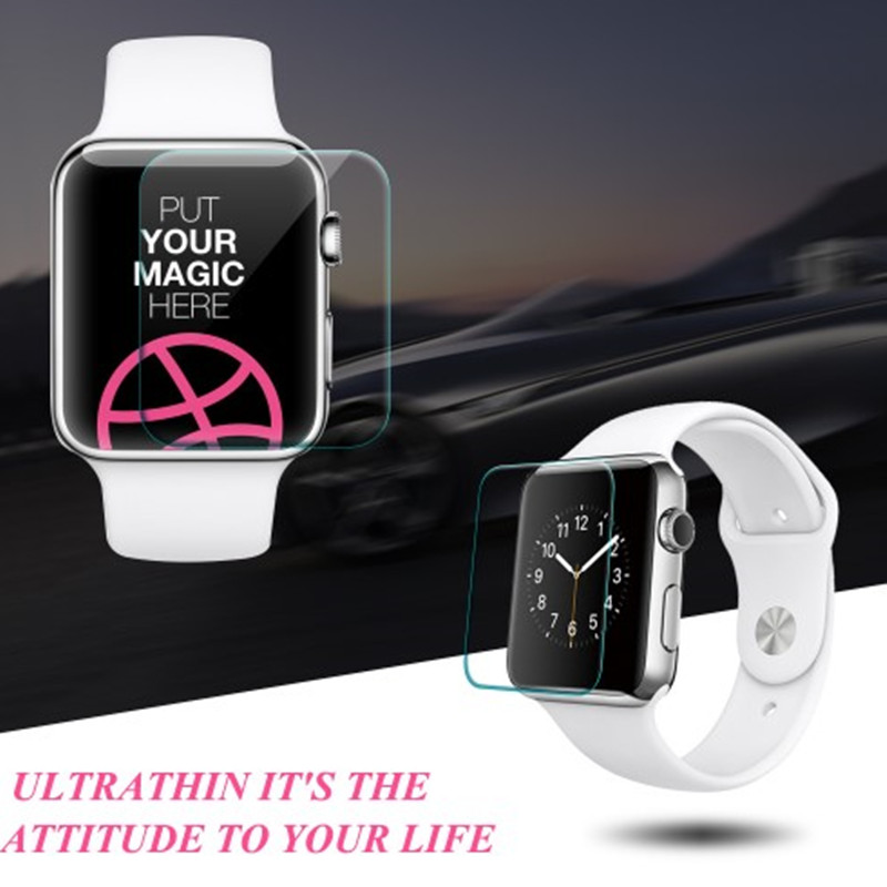 New Premium Film 0 26mm Real Tempered Glass Screen Protector for Apple font b Watch b