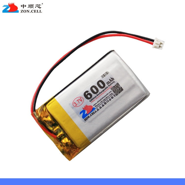 In 600mAh 402440 3.7V lithium polymer battery <font><b>402540</b></font> wireless speakers point reading machine recording pen Rechargeable Li-ion C image