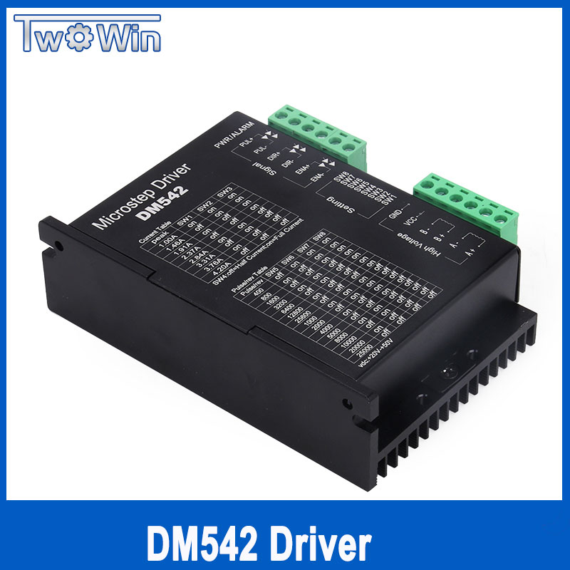 DM542 Stepper Motor Controller Leadshine 2-phase Digital Stepper Motor Driver 18-48 VDC Max 4.1A 57 86 Series Motor Driver W315 dm542 stepper motor controller leadshine 2 phase digital stepper motor driver 18 48 vdc max 4 1a for 57 86 series motor
