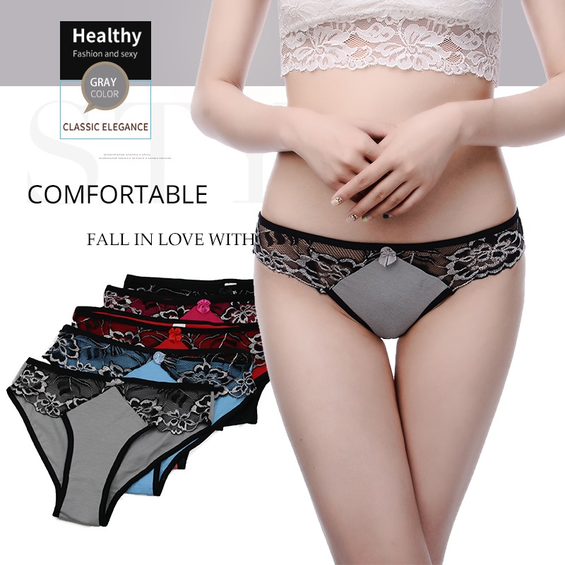 Innsly Briefs Women   Panties   Sexy Lace Printing Briefs Comfortable Women Underwear Soft Double Cotton Crotch Women Underwear