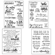 ZhuoAng Italian language/Italy Transparent and Clear Stamp DIY Scrapbooking Album Card Making Decoration