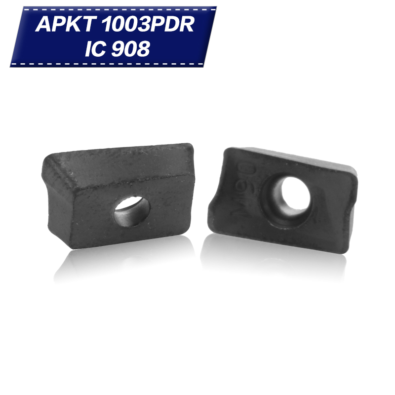 5168316d909 20 PCS Ferramentas De Corte para Torno HM90 APKT1003 PDR IC 908 carboneto  de Moagem Inserir Moinho CNC Turing ferramentas APKT 1003 Moagem cortadores