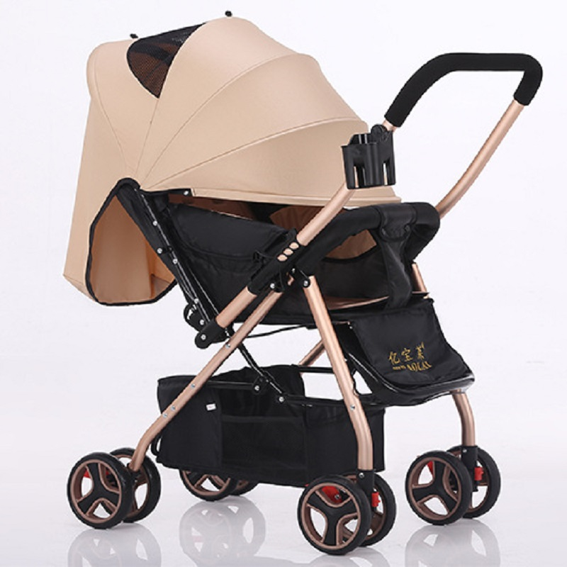 Yibaolai baby stroller can sit can lying baby strollers  the ultra-light baby carriage folding umbrella  baby carts lightweight strollers aiqi ultra light white frame good quality baby stroller baby umbrellacar boarding stroller accessories