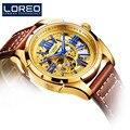 Relogio Masculino LOREO Luxus Marke Uhren Für Herren Casual Sport Automatische Mechanische Uhr Wasserdichte Männliche Uhr Reloj