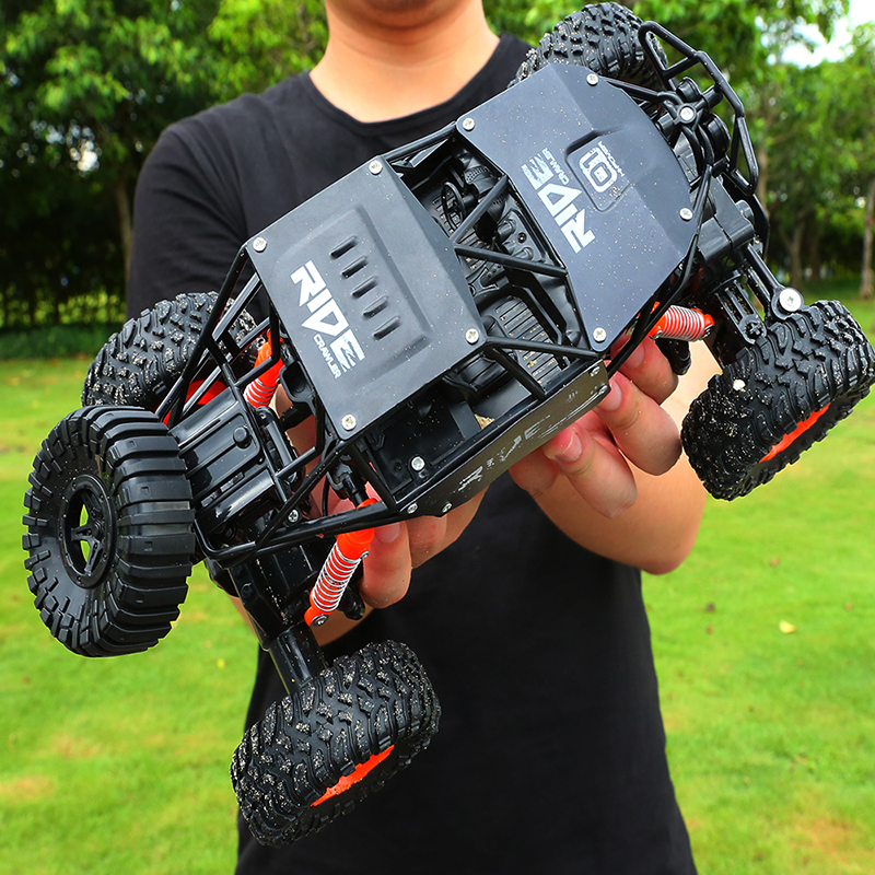 alloy 2.4G rc car 1/16 10km/h Off Road Drive Bigfoot cars electric four wheel climbing Double Motors Vehicle toys car for gift-in RC Cars from Toys & Hobbies