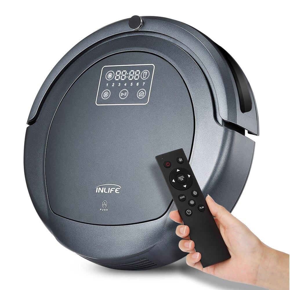 Inlife ZK8077 Robotique Aspirateur Virtuel Bloqueur Écran Tactile Auto De Charge Sans Fil Aspiration Vadrouille Balayeuse Aspirateur