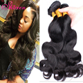BQ Hair Products Peruvian Virgin Hair Weave 3 Bundles 7A Peruvian Body Wave Human Hair Extension Soft & Healthy #1B