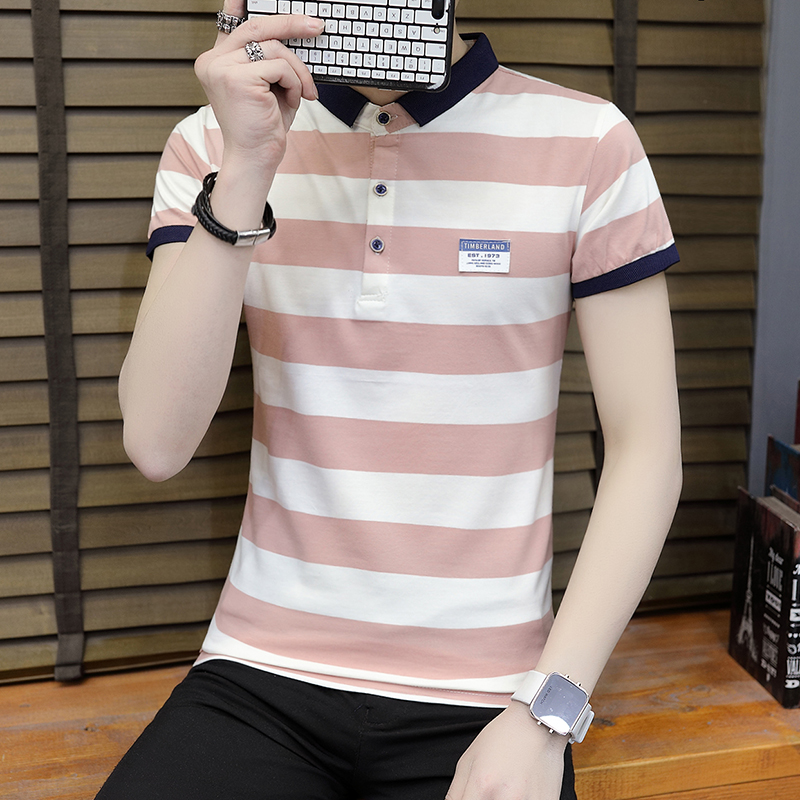 New summer high quality striped short sleeve polo shirt men brand clothing fashion Korean casual slim fit male camisa 9018Z 3