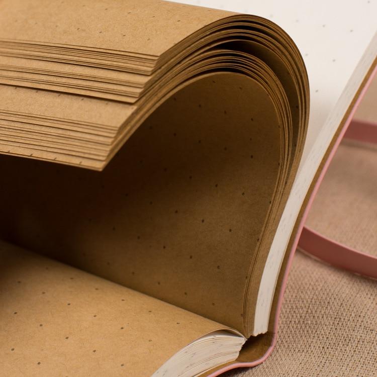Kožená brašna Kraft Paper A5 Dárková krabička Cute Dotted - Bloky a záznamní knihy - Fotografie 4