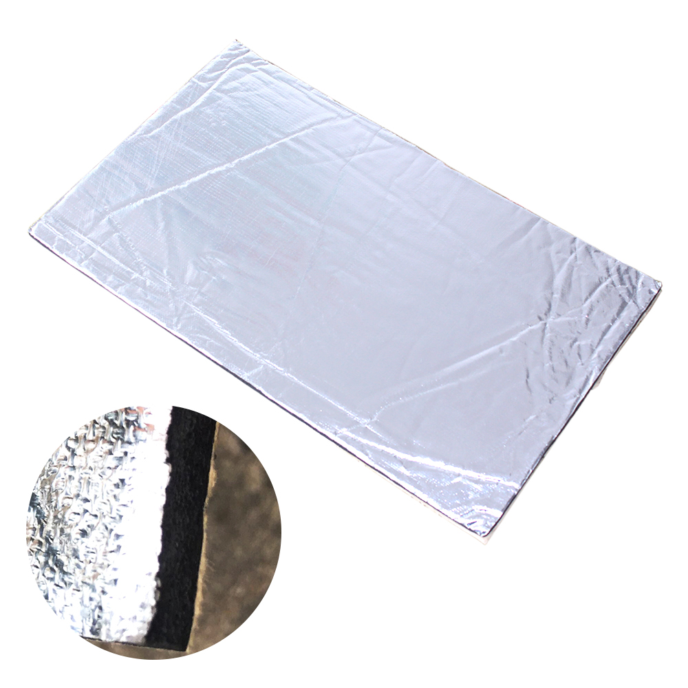 1pc 30x50cm Silver Car Sound Proofing Deadening Insulation Closed Cell Foam Car Hood Insulation Reducing Noise 7mm Aluminum Foil
