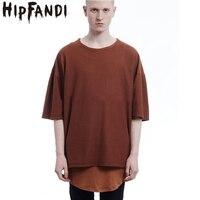 2016 Fashion Summer T Shirt Kanye West Oversize Color Dark Grey T Shirt Fear Of God