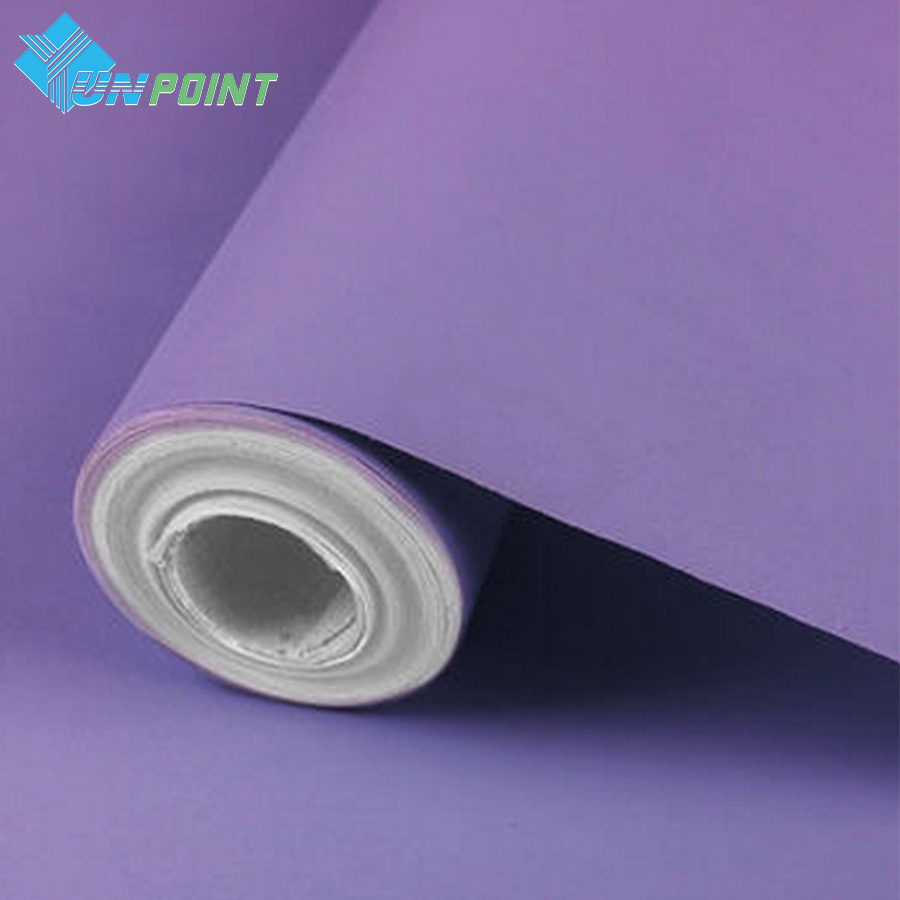 3meter solid color self adhesive film modern pvc vinyl for Solid vinyl wallcovering