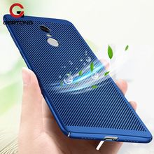 GerTong Hard PC Heat Dissipation Case For Xiaomi Redmi 4X 4A Note 4X 4 3 Mi5 Mi6 Mi 5 6 Phone Cover Back Protect Shell Conque