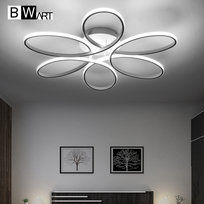BWART Moderne Plafonniers À Distance plafonnier à led luminaire pour salle à manger salon chambre cuisine salon abajour luminaria luste