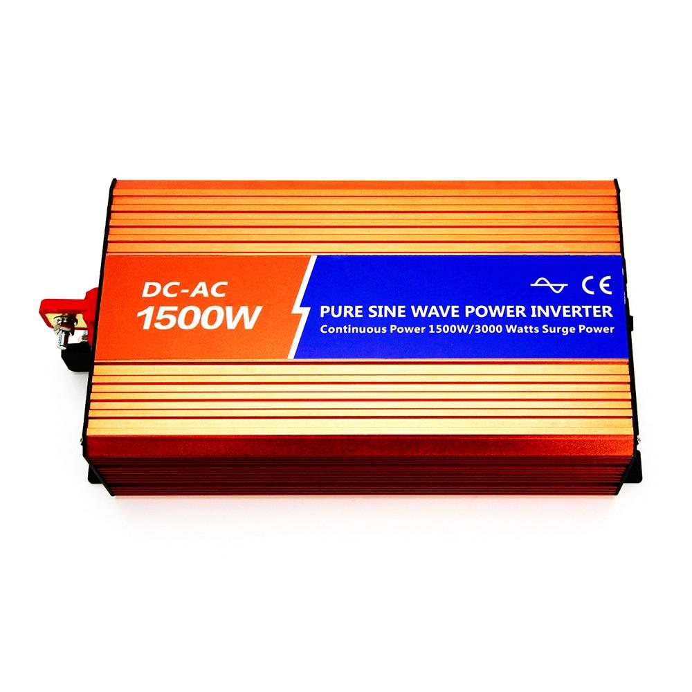 цена на MAYLAR@12VDC 1500W 110V/120V/220V/230VAC 50Hz/60Hz Peak Power 3000W Off-grid Pure Sine Wave Solar Power Inverter For Home System