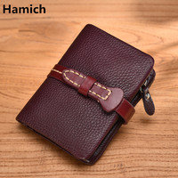 New Genuine leather women wallets High quality cowhide short women's wallets noble luxury wallets for girl