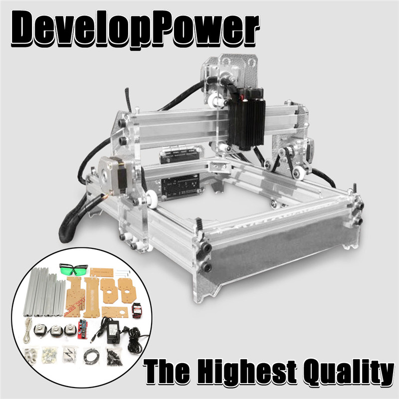 Новый 2000 МВт A5 17x20 см лазерный гравер резки Desktop гравировка принтер типа ЧПУ DIY рабочего Дровосек + лазерная очки