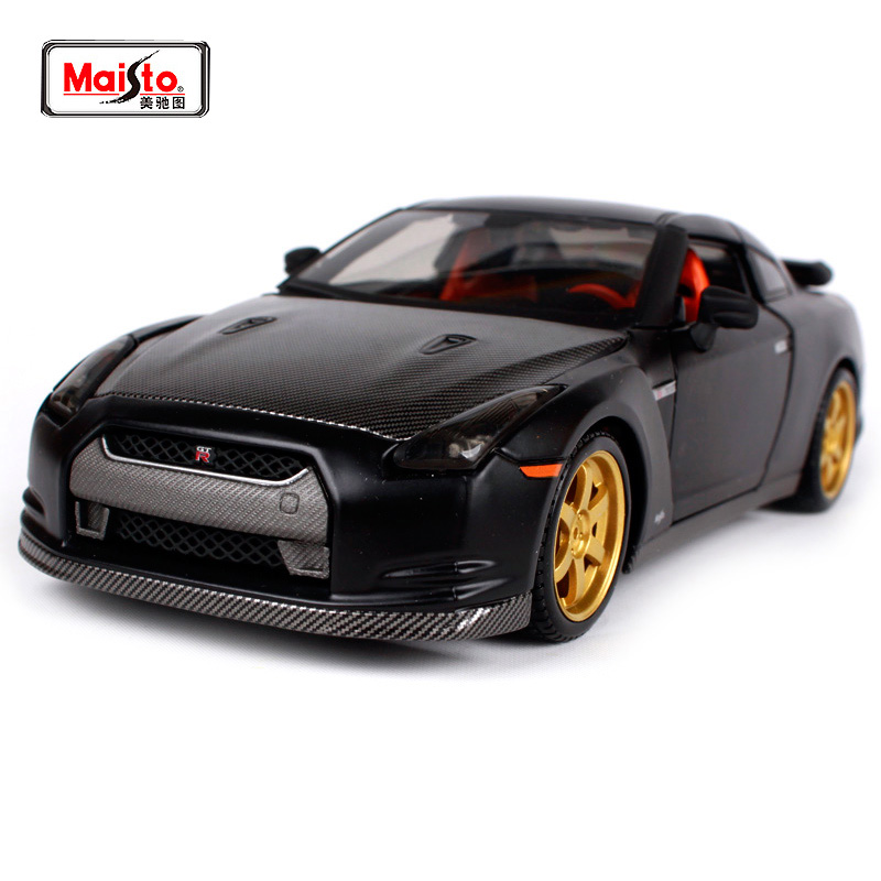 Maisto 1 24 Nissan GTR R35 370Z POLICE Diecast Model Car Toy New In Box Free