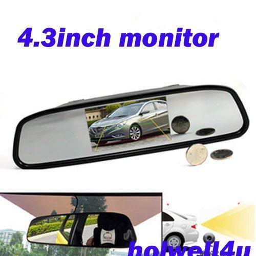 """middle 4.3"""" LCD Rear View Car Mirror Monitor for av signal pal or ntsc from camera or dvd player"""