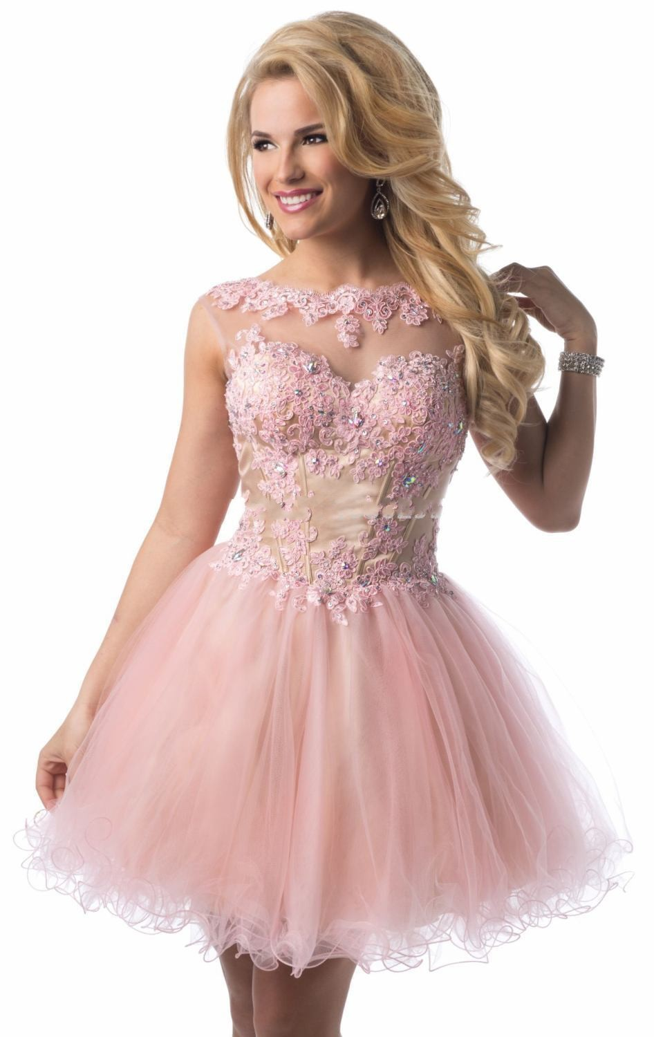 Light Pink Graduation Dresses