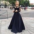Custom Made Negro Partido Maxi Faldas Para Mujer Plus Tamaño 7XL Graceful Una Línea de Cintura Alta Faldas de Longitud de Largo Prom 2016
