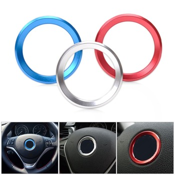 CITALL Car Steering Wheel Center Ring Cover Trim For BMW 1 3 4 5 7 Series M3 GT5 X1 X3 X5 X6 F30 F32 F10 E38 F25 2013 2014 2015 image
