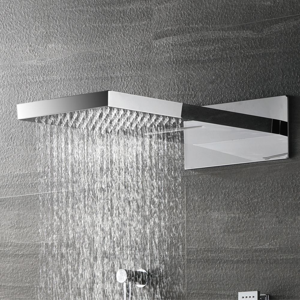 Bathroom Shower Sets Us 1030 69 31 Off Hideep Wall Mounted Bath And Shower Mixers Rain Shower Sets Solid Brass Bathroom Shower Set Accessories Rainfall Shower In Shower