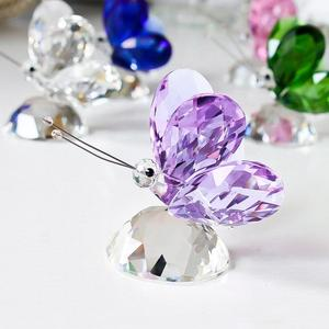 Image 4 - H&D 6pcs Crystal Butterfly Crafts Glass Animal Paperweight Natural Stones Figurines Ornaments Home Decor Souvenir Wedding Gifts