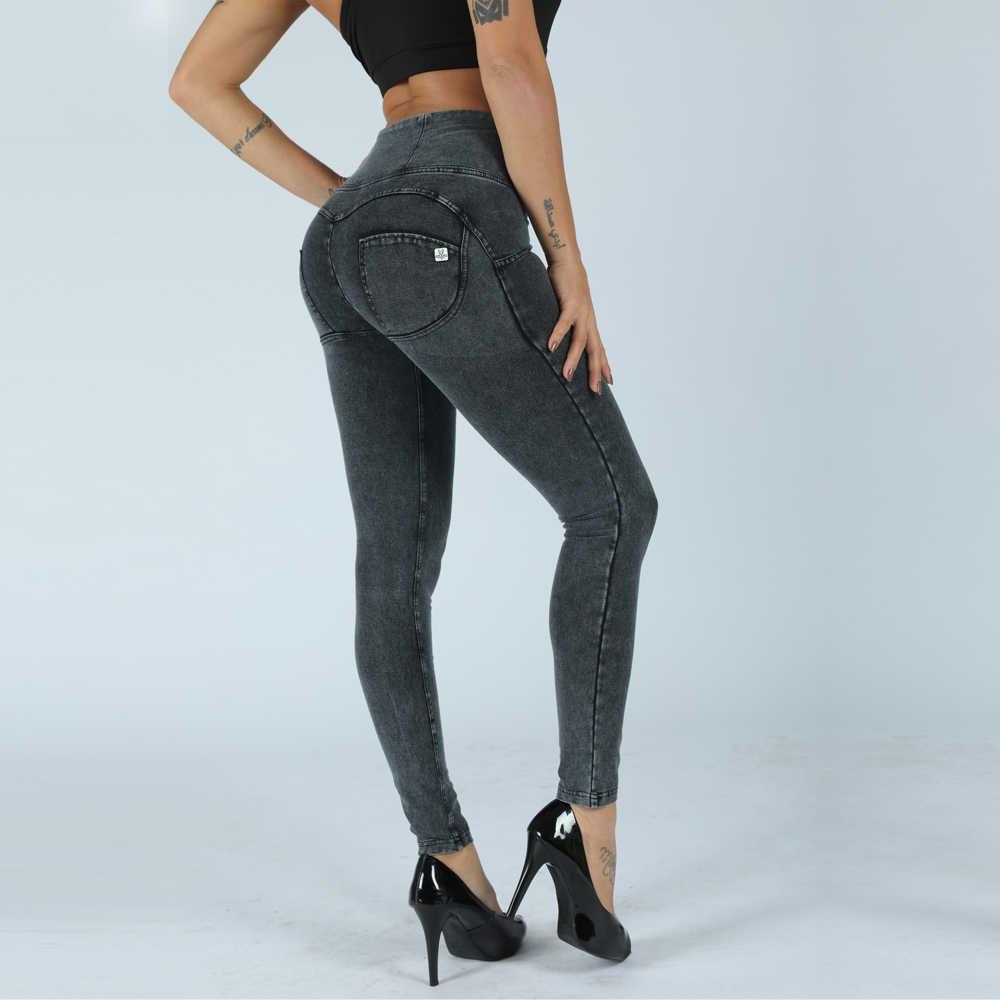 06a7570d3 ... Melody denim high waist long best booty pants heart shape leggings  tights skinny pants yoga leggings