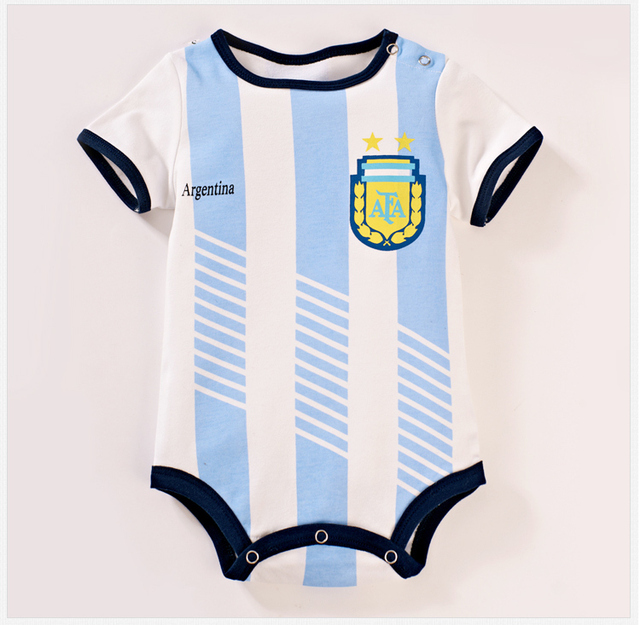 The Argentina Football Team Shirt Baby Clothes Pure Cotton Movement