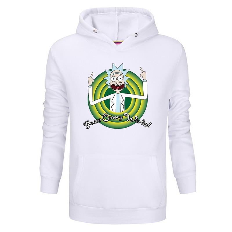 New fashion autumn hot anime sweatshirt men blood youth Cool Rick Morty Fashion brand clothing hip hop fitness men's hoodies